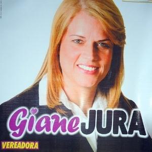 """Giane Silveira Prudêncio, a """"Giane Jura"""", mulher de um sargento da PM acusado de chefiar a maior milícia da Baixada Fluminense, foi eleita vereadora em Nova Iguaçu."""