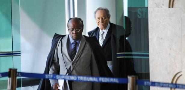 Ministros do STF Joaquim Barbosa e Ricardo Lewandowski em sessão do STF no último dia 9 - Fabio Rodrigues Pozzebom/ABr