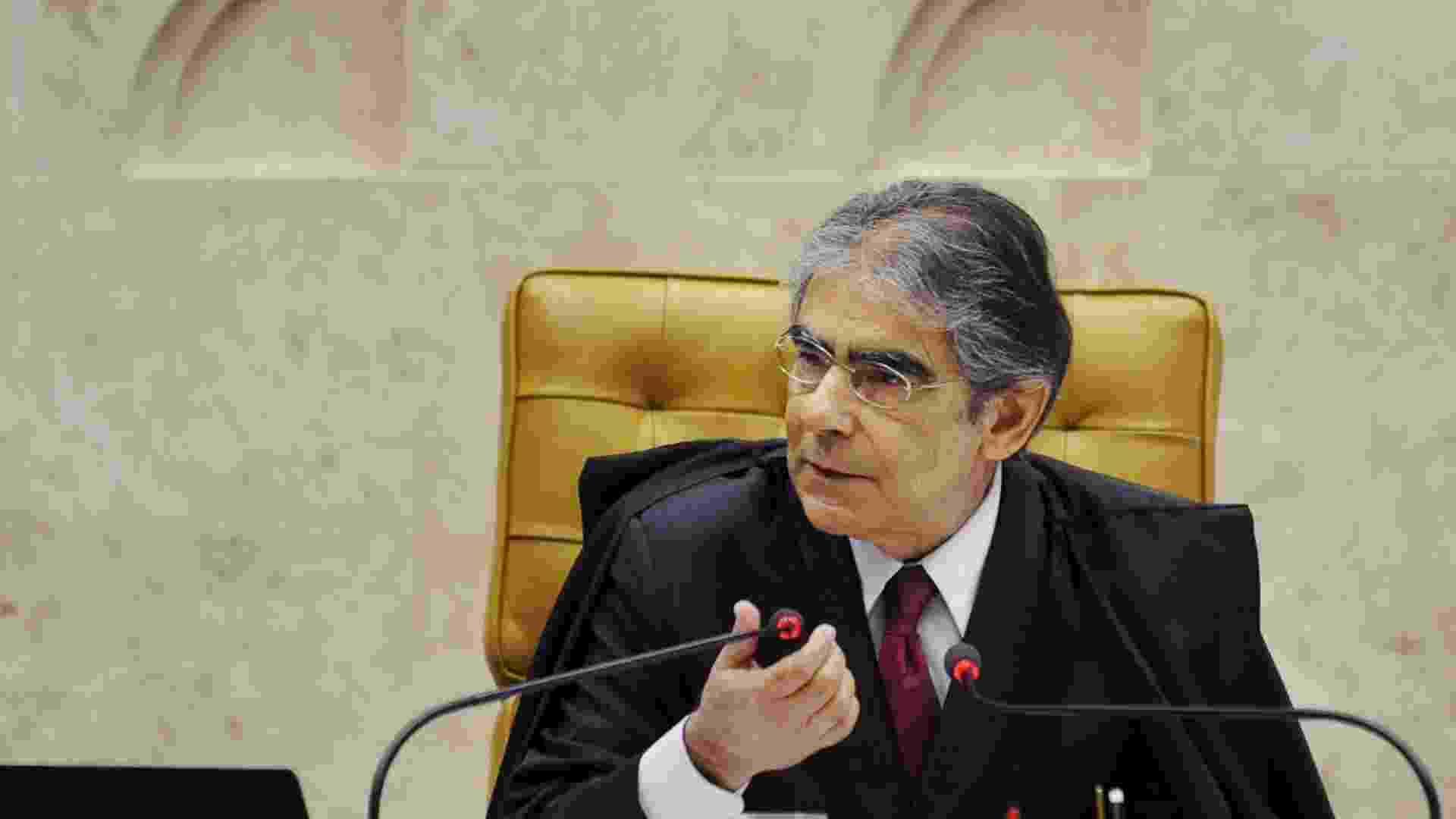 9.out.2012 - Presidente do Supremo Tribunal Federal (STF), ministro Carlos Ayres Britto, durante sessão de julgamento do processo do mensalão  - Fabio Rodrigues Pozzebom/ABr