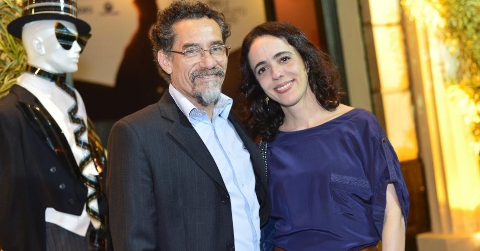 """Chico Diaz e Silvia Buarque na pré-estreia do filme """"A Floresta de Jonathas"""" (8/10/12)"""