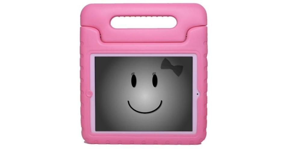 A KaysCase é uma capa para iPad 2 e 3 que protege o aparelho e oferece um suporte para a criança carregar o dispositivo. Por U$ 34.99 (cerca de R$ 70) na loja Amazon