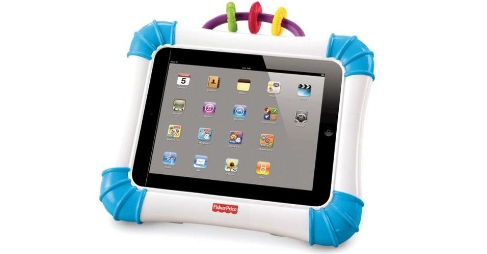 Capa protetora da marca Fischer Price para iPad 1 e 2 na loja Amazon por US$ 29,97 (cerca de R$ 60)