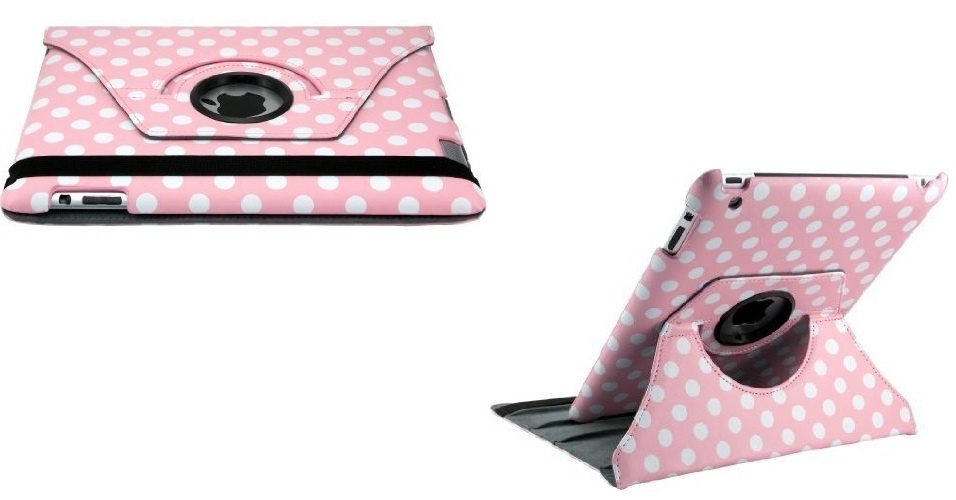 Capa rosa para iPad por U$ 19,99 (cerca de R$40) na loja Amazon