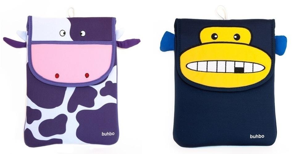 Capas para iPad com estampa de animais por US$ 34,95 (cerca de R$ 70) cada uma, na loja Buhbo