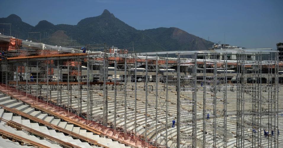 Com 70% dos trabalhos concluídos, o Maracanã começará a receber a estrutura da cobertura do estádio em novembro