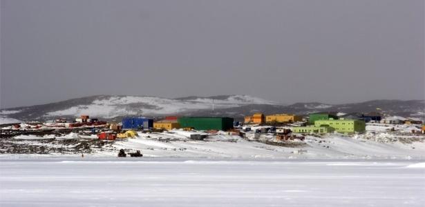A estação de pesquisa Davis, no Território Antártico Australiano, nas proximidades do Ridge A