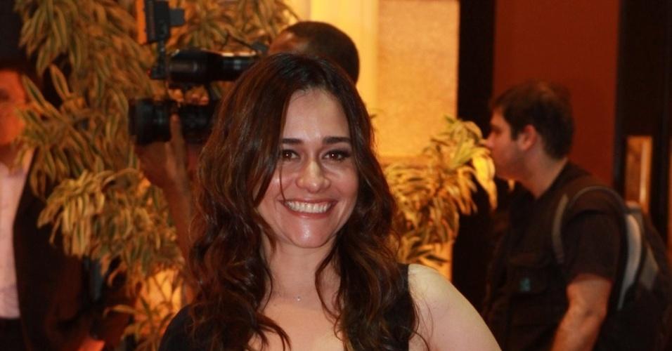 A atriz Alessandra Negrini prestigiou a cerimônia de premiação do Festival do Rio no Cine Odeon BR, centro do Rio (11/10/12)