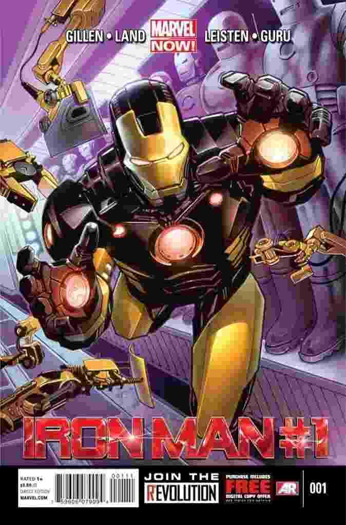 """A Marvel lançou na Comic-Con de Nova York, nesta quinta-feira (11), o primeiro número de """"Iron Man"""", como parte do grande relançamento dos heróis das HQ's na iniciativa """"Marvel Now!"""" - Divulgação/Marvel"""