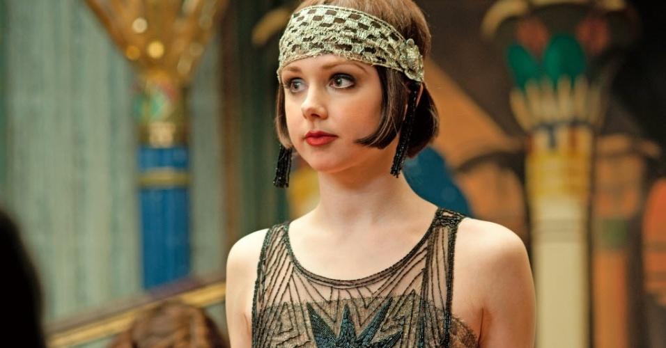 """A personagem Meg Chamber Steedle interpretando a personagem Billie Kent em cena da terceira temporada de """"Boardwalk Empire"""". A série reestreou nos Estados Unidos em setembro"""