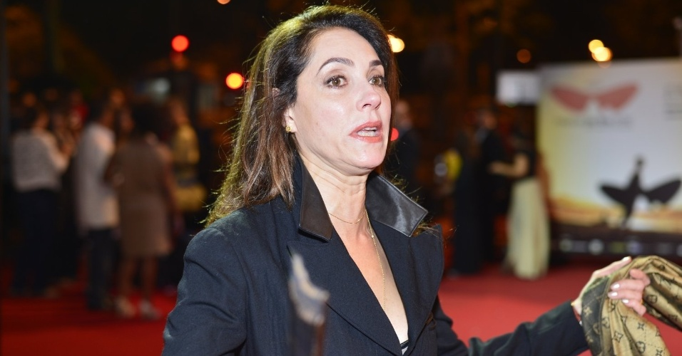 Christiane Torloni prestigiou a cerimônia de premiação do Festival do Rio no Cine Odeon BR, centro do Rio (11/10/12)
