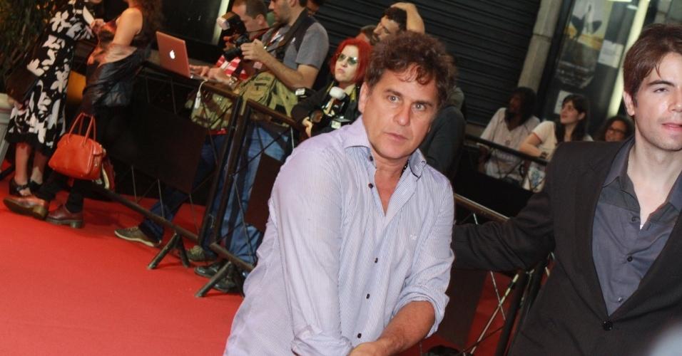 O ator Marcos Frota prestigiou a cerimônia de premiação do Festival do Rio no Cine Odeon BR, centro do Rio (11/10/12)