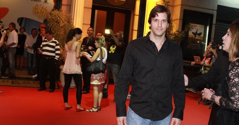 O ator Vladmir Brichta prestigiou a cerimônia de premiação do Festival do Rio no Cine Odeon BR, centro do Rio (11/10/12)