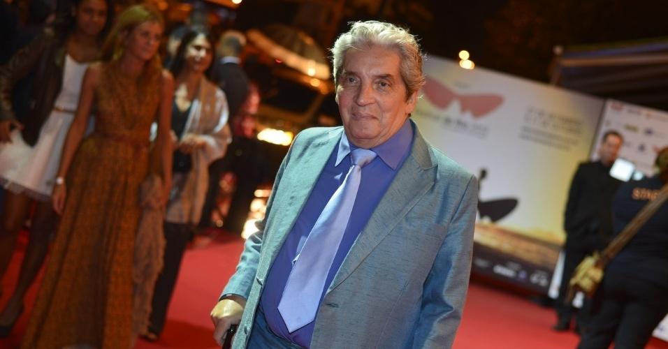 O cineasta Domingos de Oliveira prestigiou a cerimônia de premiação do Festival do Rio no Cine Odeon BR, centro do Rio (11/10/12)