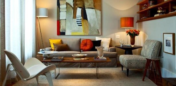 Uma dica é aplicar tons neutros nas paredes e usar cores vivas nos objetos menores - Divulgação/ Projeto Marília Veiga