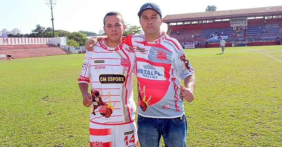 Rafael e Miltinho Falconeres, pai e filho do Tiradentes