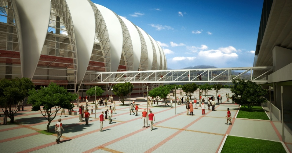 Vista externa da cobertura que será instalada na reforma do estádio Beira-Rio - Projeto Gigante Para Sempre - do Internacional (Arquivo)