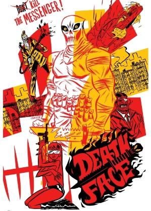 """Capa do primeiro número de """"Deathface"""", homenagem aos heróis de ação cinematográficos dos anos 1980 - Reprodução"""