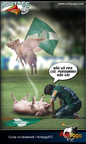 Corneta FC: Jogadores já choram a morte do porquinho