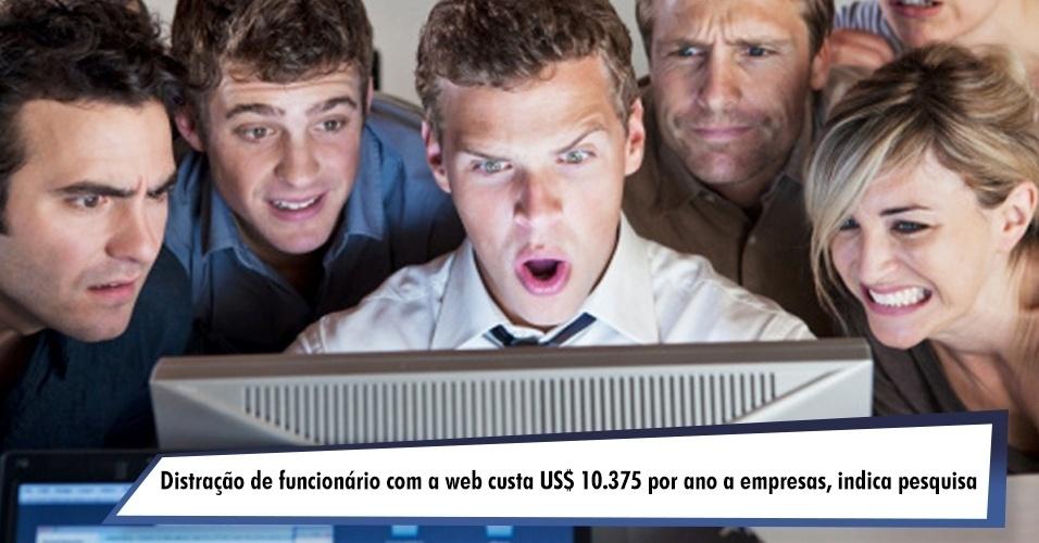 Distração de funcionário com a web custa US$ 10.375 por ano a empresas, dedura pesquisa