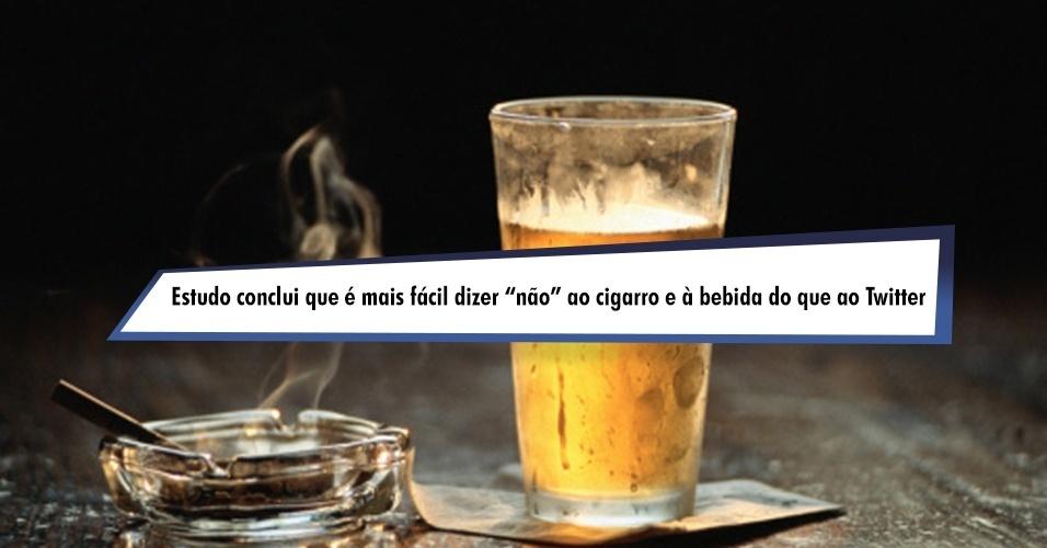 Estudo alemão conclui que é mais fácil dizer ''não'' ao cigarro e à bebida do que ao Twitter