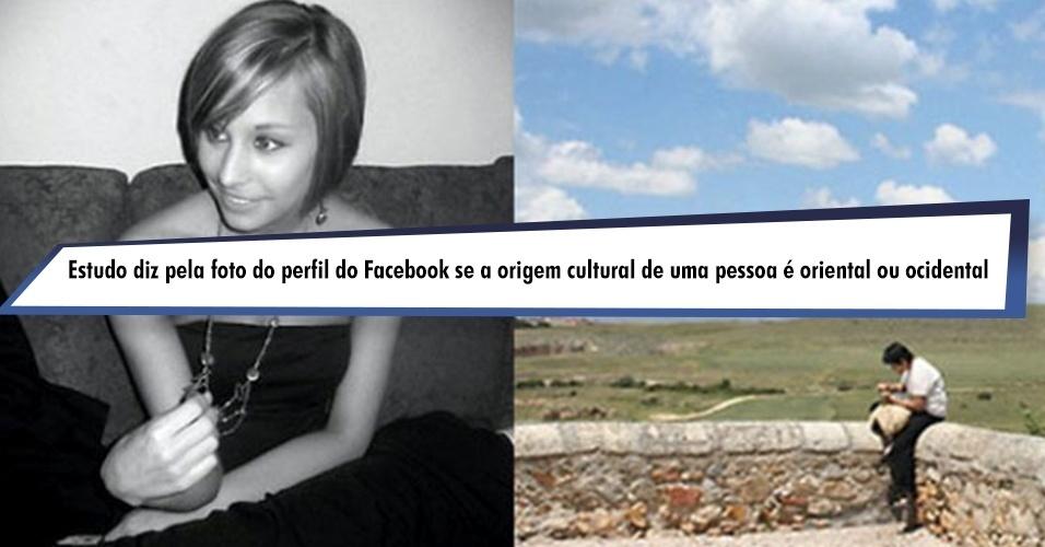 Estudo diz pela foto do perfil do Facebook qual se a origem cultural de uma pessoa é oriental ou ocidental