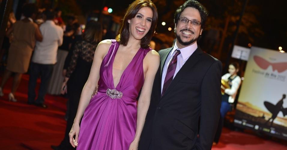 Maria Clara Gueiros e Lúcio Mauro Filho foram os apresentadores da ceriônia de premiação do Festival do Rio (11/10/12)