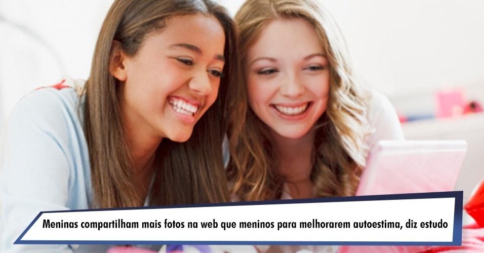 Meninas compartilham mais fotos na web que meninos para melhorarem autoestima, diz estudo