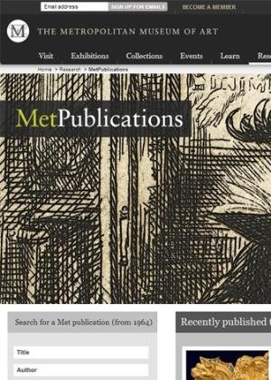 MetPublications, novo site do Museu Metropolitano de Arte de Nova York (Met) - Reprodução