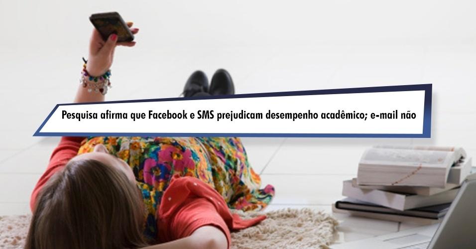 Pesquisa afirma que Facebook e SMS prejudicam desempenho acadêmico; e-mail não