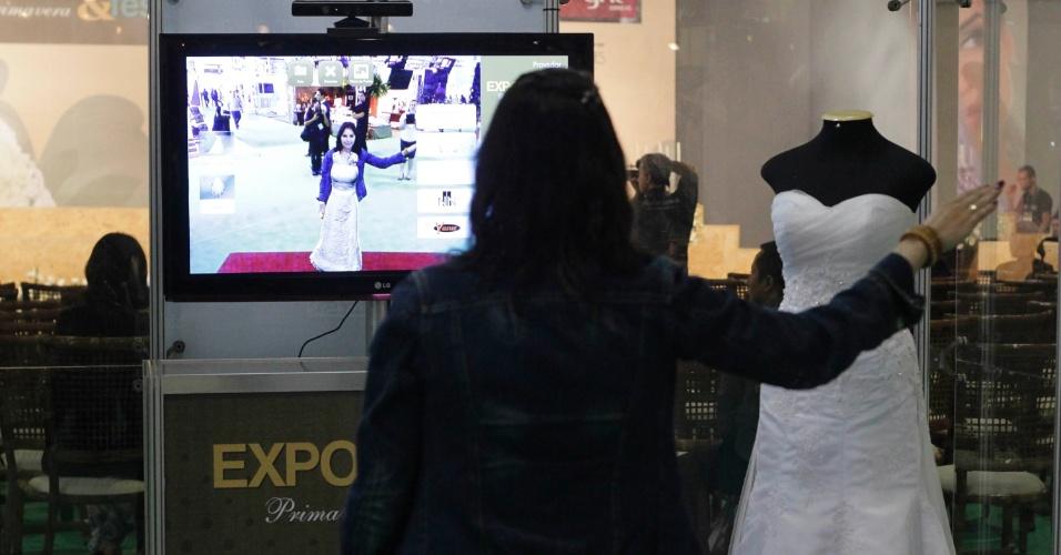 Provador virtual na Expo Noivas & Festas (11/10/2012)