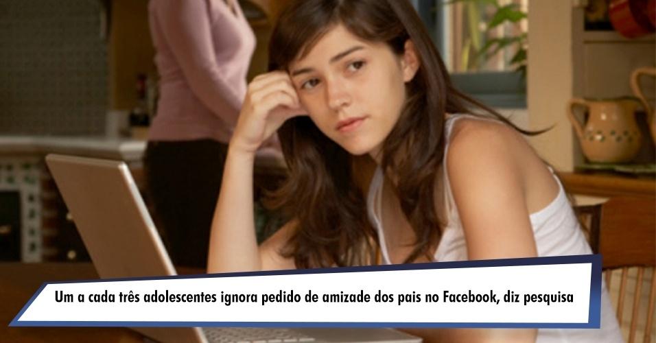 Um a cada três adolescentes ignora pedido de amizade dos pais no Facebook, diz pesquisa