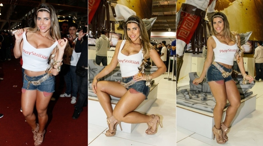 Ana Paula Minerato prestigiou a Brasil Game Show, feira de games que acontece em São Paulo (13/10/12). A musa do Corinthians e panicat acaba de ser convidada para ser ring girl oficial do evento esportivo Predador Fight Championship