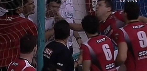 Briga final do campeonato paulista de vôlei