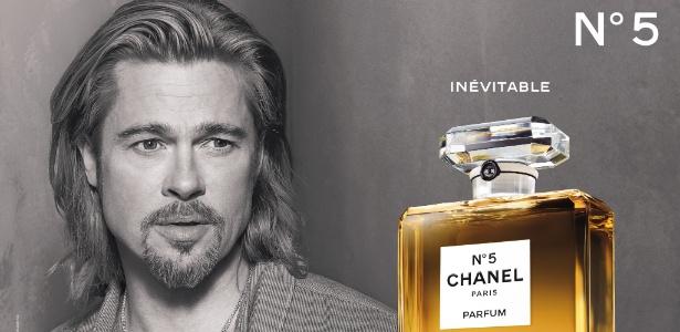 Brad Pitt e a fragrância Chanel Nº5, que pode ser banida na Europa por conter ingrediente alergênico - Steven Klein/Divulgação