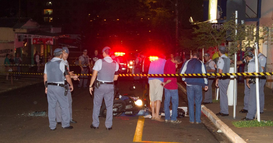 15.out.2012 - Capitão da PM é baleado por criminosos no centro de Ribeirão Preto (SP)