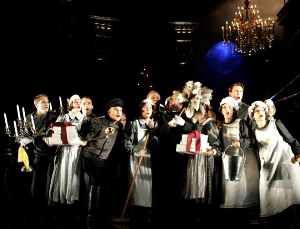 """Ensaio da peça """"Rebecca"""" em Viena. A montagem da Broadway foi cancelada após fraude (18/9/06) - AP"""