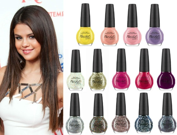 Cores femininas de primavera compõem coleção de Selena Gomez para Nicole by O.P.I - Getty Images e Divulgação