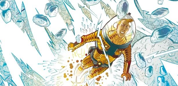 """""""Astronauta - Magnetar"""" tem roteiro e arte de Danilo Beyruth e foi colorida por Cris Peter - Divulgação"""