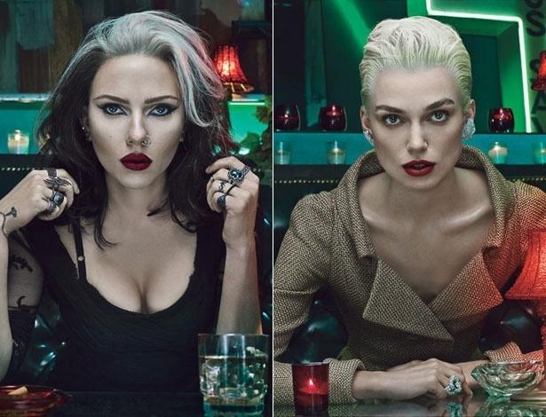 Scarlett Johansson e Keira Knightley posam para a revista