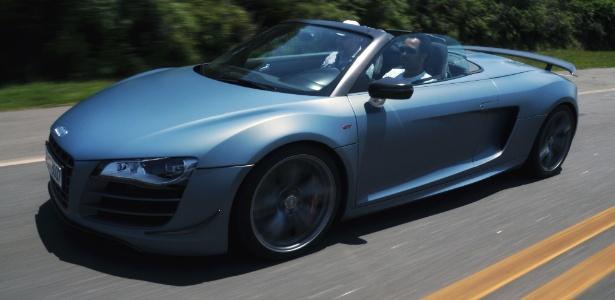 Audi R8 Spyder GT: a placa é alemã, mas o carro estará no salão para ser acelerado por todos - Murilo Góes/UOL