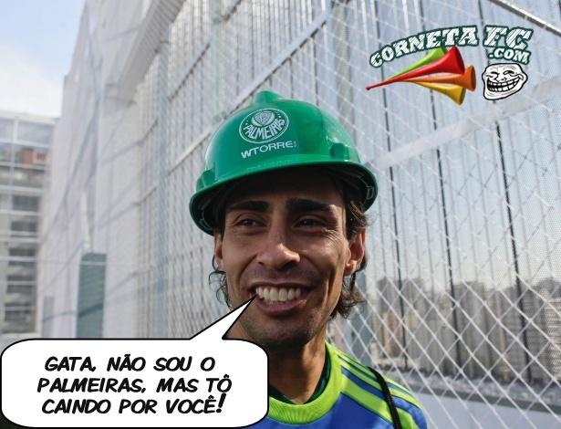 Corneta FC: Fora dos campos, Valdivia apela para cantadas de pedreiro