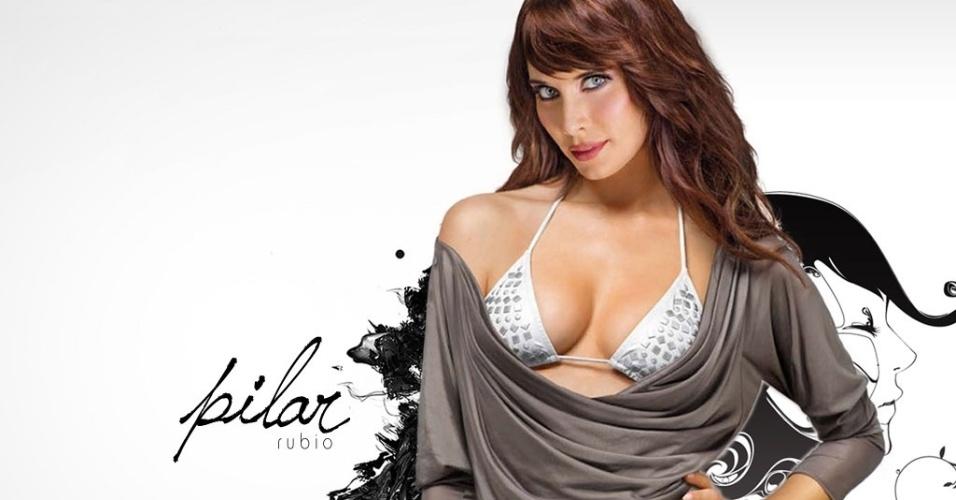 Pilar Rubio já atuou em vários seriados da TV espanhola, sendo considerada uma das mais belas mulheres do país; ela namorou com Sergio Ramos, jogador do Real Madrid