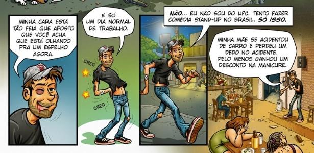 """Quadrinho """"O Mundo Contra Danilo Gentili"""" - Divulgação"""