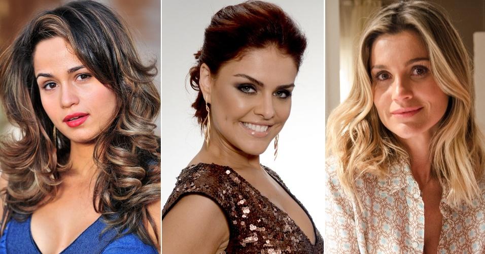 Nanda Costa, Paloma Bernardi e Flávia Alessandra com os novos looks em Salve Jorge