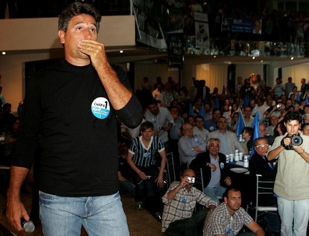 Renato Gaúcho se emociona em evento para Fábio Koff (19/10/2012)