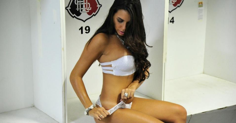 Samantha Diniz, a bela do Santa Cruz
