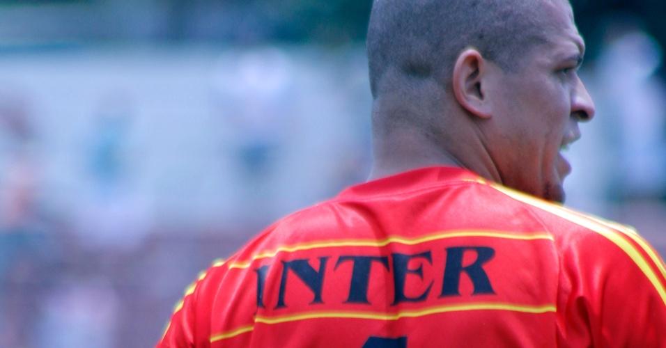 Atleta do Internacional durante semifinal da série B da Copa Kaiser contra o Real Madri