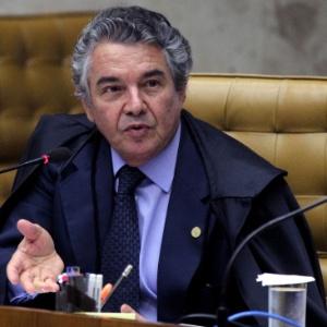 Ministro Marco Aurélio Mello durante julgamento do mensalão, em dezembro do ano passado