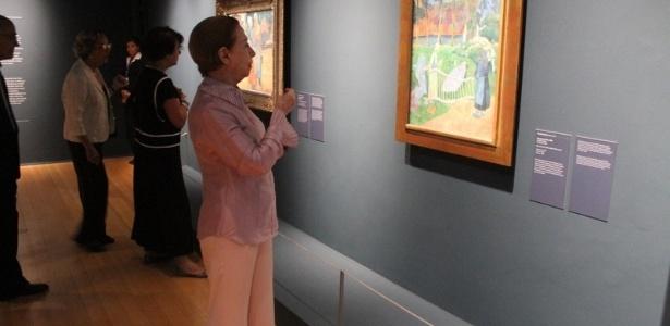 """A atriz Fernanda Montenegro visita o CCBB para estreia da exposição """"Impressionismo: Paris e a Modernidade"""", com obras Museu D""""Orsay, no Rio de Janeiro (22/10/12) - AgNews"""