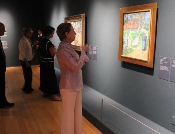 """A atriz Fernanda Montenegro visita o CCBB para estreia da exposição """"Impressionismo: Paris e a Modernidade"""", com obras Museu D'Orsay, no Rio de Janeiro (22/10/12)"""